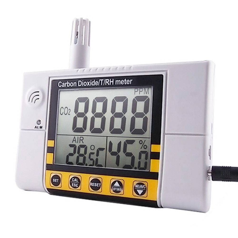0~2000ppm Range Wall Mount Indoor Air Quality Temperature RH Carbon Dioxide CO2 Monitor Digital Meter Sensor Detector