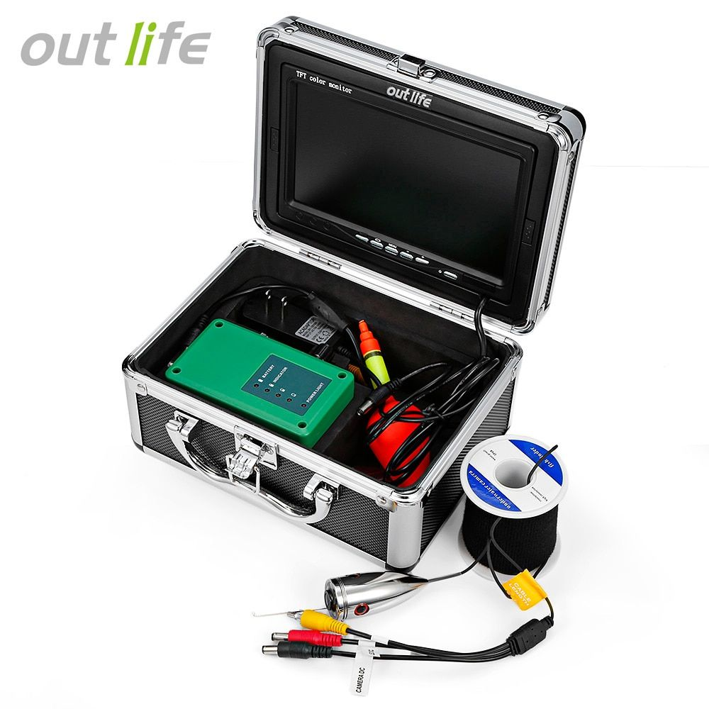 Outlife F007M - 15M - IR Professional Fishing Finder Detector Fish Finder With Video 7 Inch TFT HD Camera Infrared Lamp Fishing