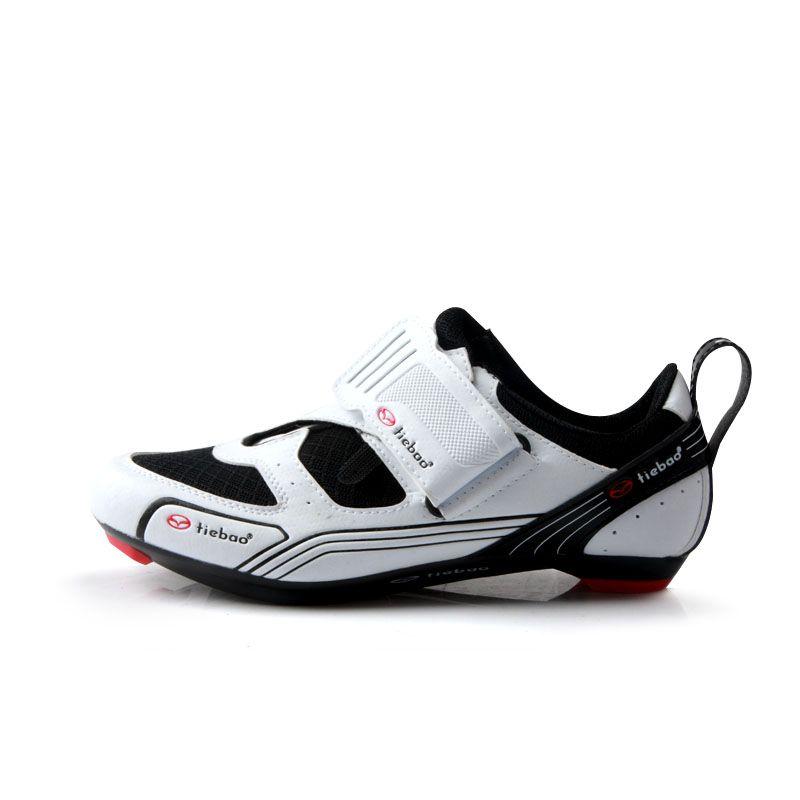 TIEBAO R1691 Outdoor Triathlon Radfahren Schuhe Glasfaser Nylon Sohle Fahrrad Schuhe LOOK-KEO Cleat Kompatibel Bike Schuhe