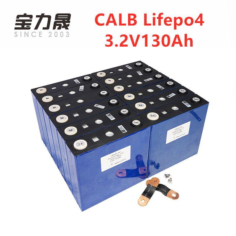 16PCS CALB Neue 3,2 V 130Ah LiFePO4 BATTERIE NICHT 24V120Ah Für 48V Solar UNS/EU/UK /AU/RU Steuer Freies UPS oder FedEx freies schnelles verschiffen