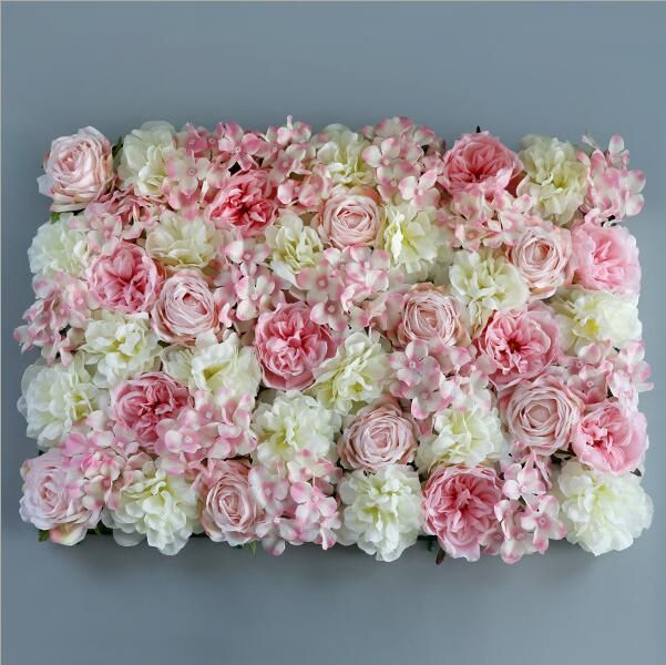 Luxury 40x60cm Artificial Flower centerpiece fake Hydrangea Peony Rose Flower for Wedding party flower wall decoration floral