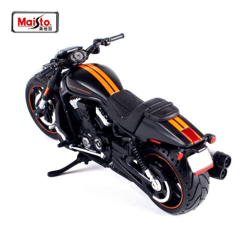 Maisto 1:18 2012 Harley VRSCDX tige de nuit noir moto vélo modèle livraison gratuite 12015