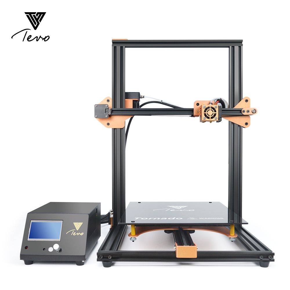 2018 TEVO Tornado 3D Printer Fully Assembled Impresora 3D Full Aluminium Frame with Titan Extruder AC Heatbeat Large Printing