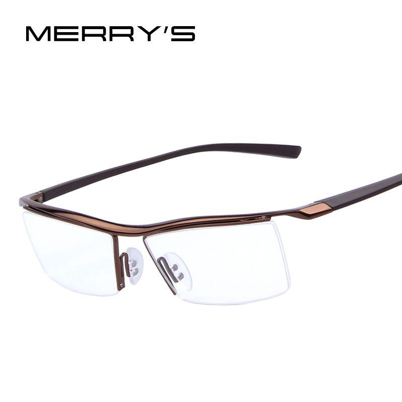MERRY'S hommes cadres optiques lunettes cadres Rack lunettes commerciales mode cadre myopie titane cadre TR90 jambes S'441