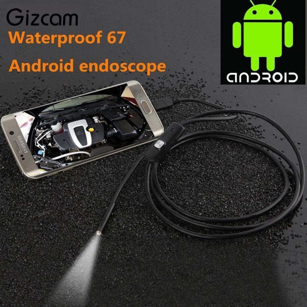 Gizcam Portable New 7mm Endoscope IP67 Waterproof Android Endoscope Inspection Tube Video Mini Cameras Micro Camera