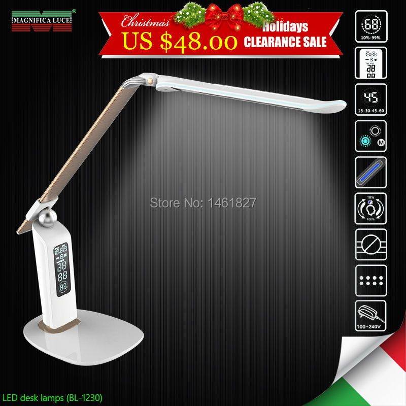 2018 special LED desk lamp BL1230 Digital control of time and calendar , stepless dimming table lamp