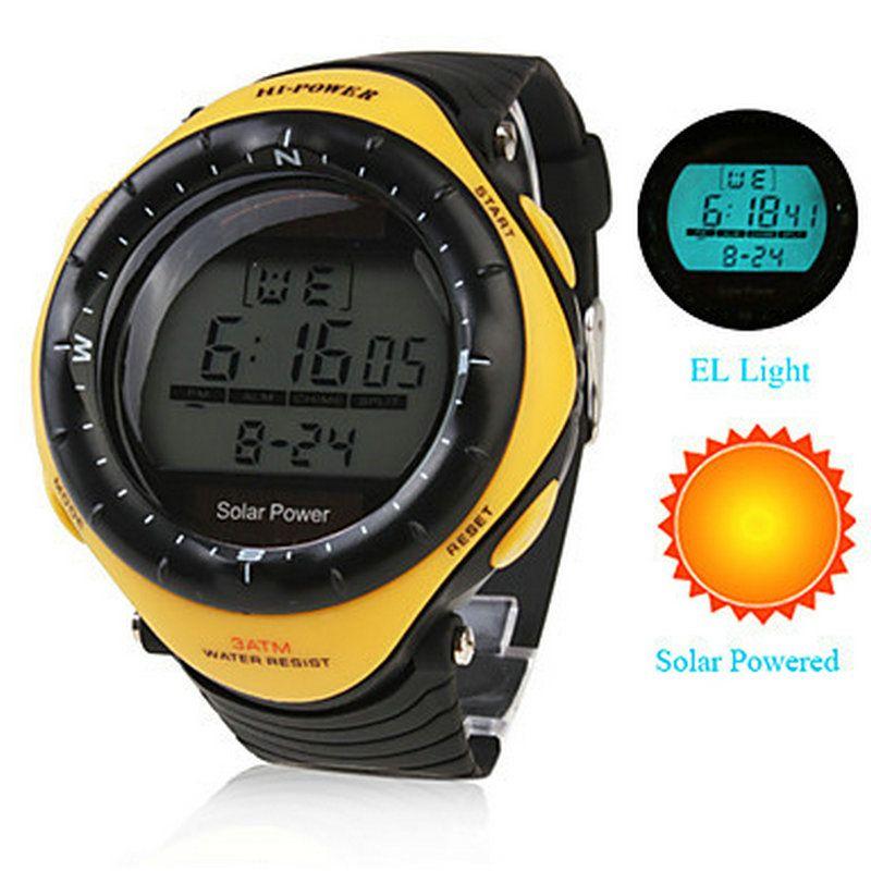Unisex Solar Powered Multi-Functional Digital WristWatch Wateproof Men's sports watches Relogio esportivo Male relojes Clock