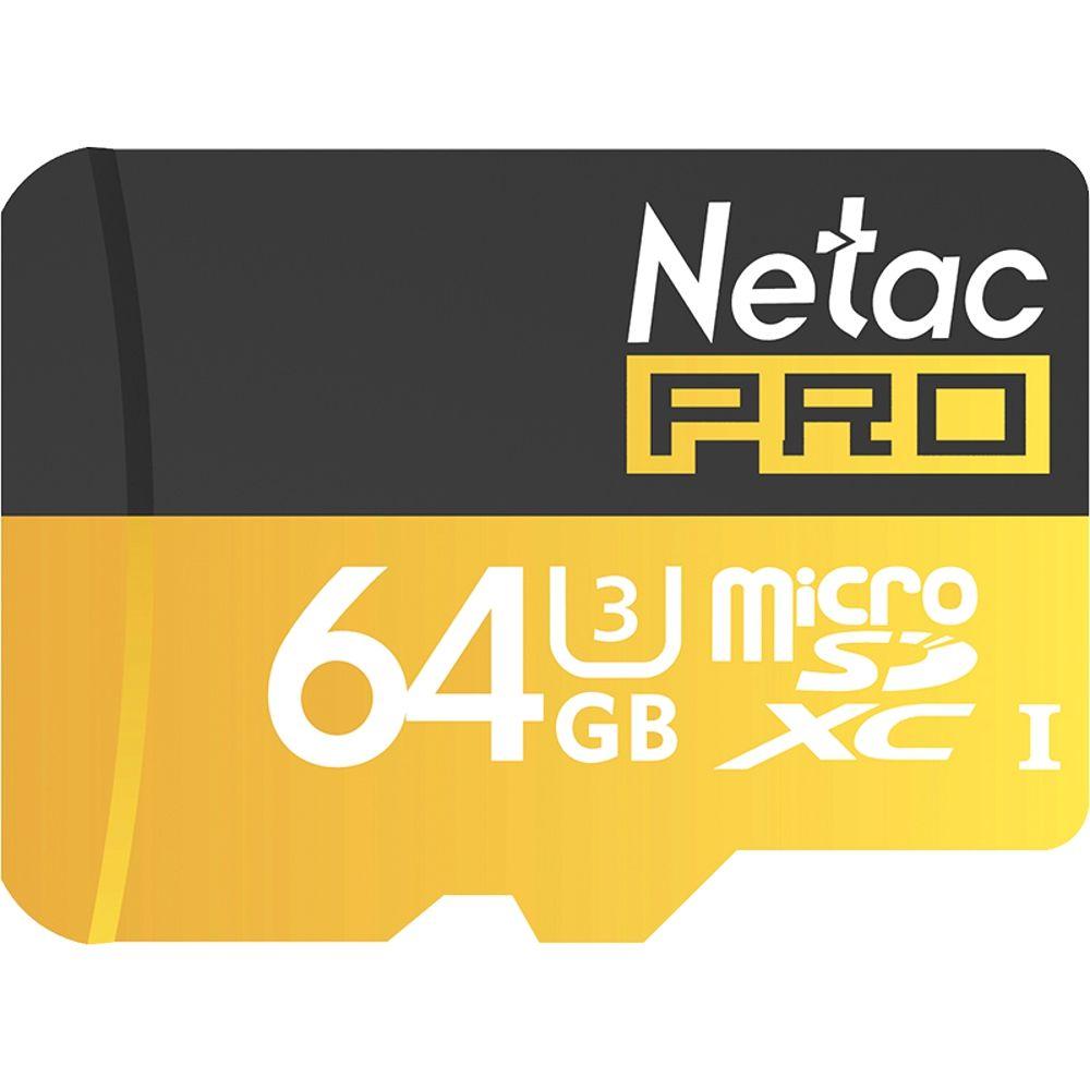 Big Discount Original Netac P500 Class 10 64G Micro SD XC TF Flash Memory Card Data Storage UHS-I U3 High Speed Up to 90MB/s