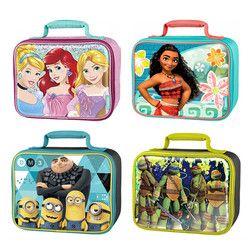 Cute Cartoon Minions Elsa Anna Moana School Insulated Lunch Bags for Kids Boy Girls Lunch Box Tote Bag Thermal Picnic Food Bag