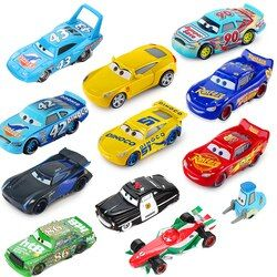 Disney Pixar Cars 3 Lightning McQueen Mater Jackson Storm 1:55 Diecast Metal Alloy Model Car Birthday New Year Gift Toy For Boy