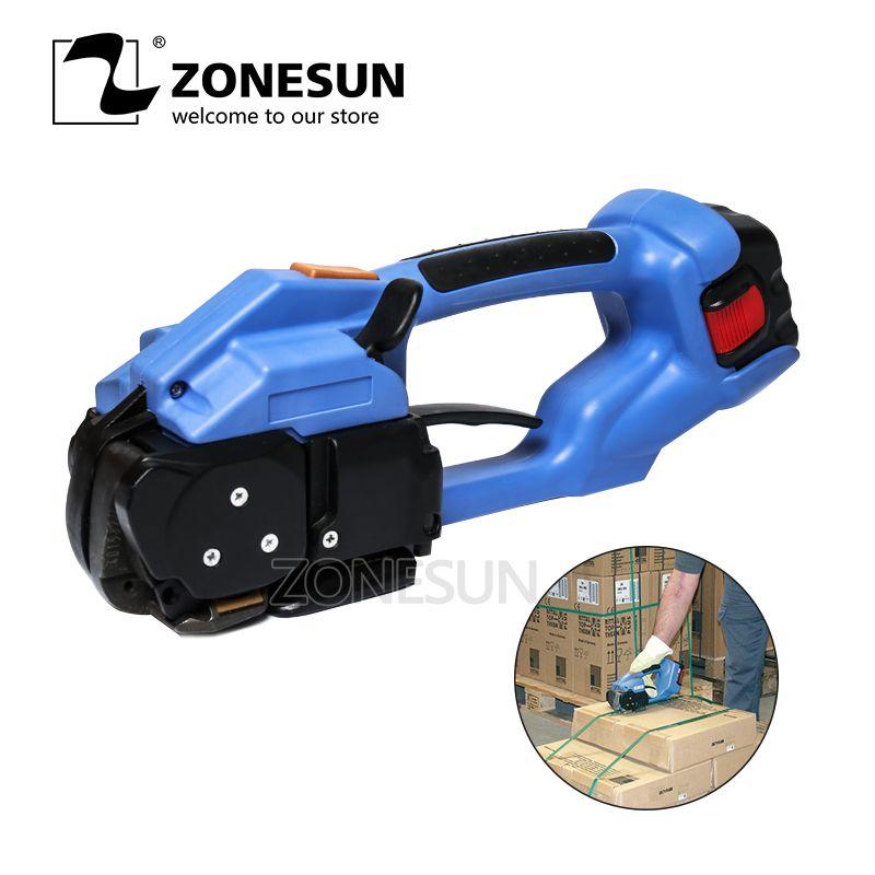 ZONESUN umreifung maschine ORT-200 Batterie Powered elektrische pet strap verpackung Werkzeug Elektrische Kunststoff Umreifung Werkzeug