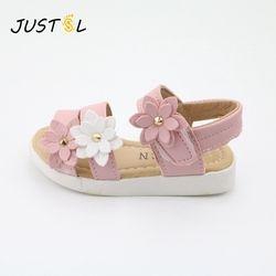 JUSTSL zapatos para niños 2018 verano nuevos zapatos de los niños flor encantadora muchacha de la manera Zapatos Sandalias bebé magia para kiad 21-36