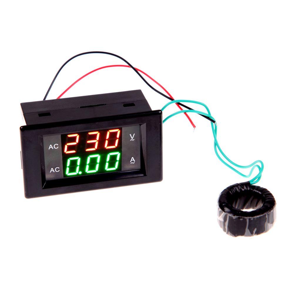 AC Numérique Ampèremètre Voltmètre 220 v Panneau Amp Volt Tension Courant Testeur Double LED Affichage de Haute Qualité
