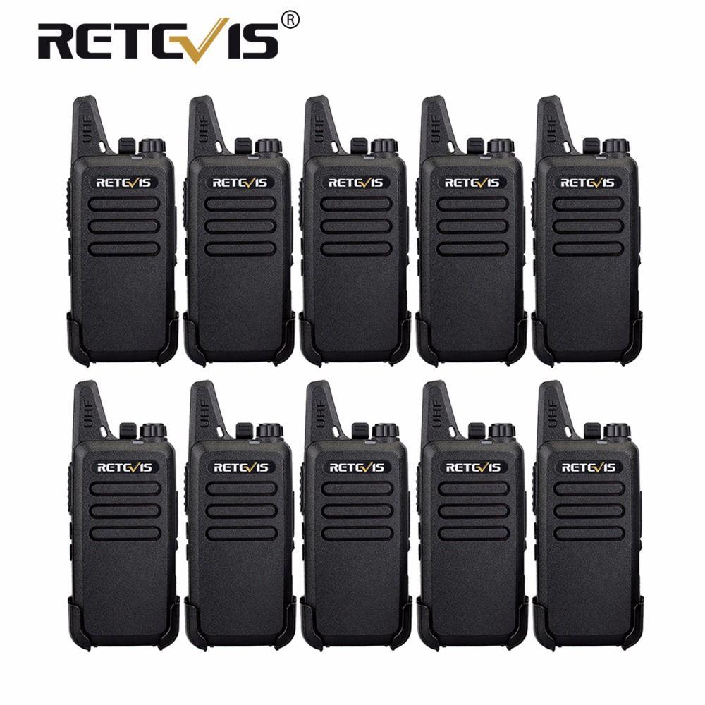 10 pcs Retevis RT22 Mini Walkie Talkie UHF VOX Portable cb Ham Radio Hf Transceiver Hotel/Restaurant/KTV Communication Equipment