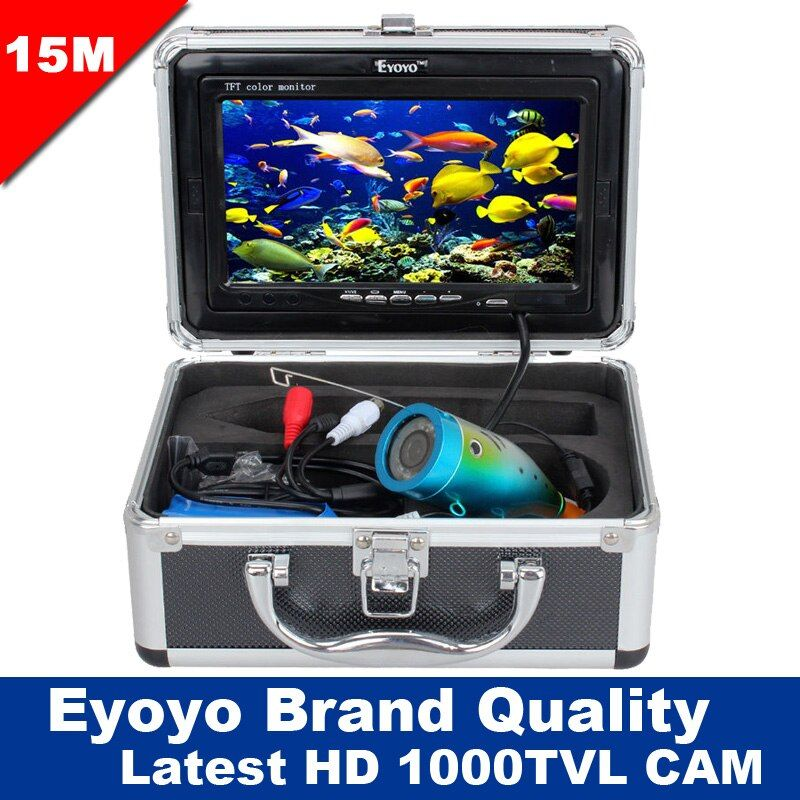 Free Shipping!Eyoyo Original 15M Underwater Professional Fish Finder Fishing 1000TVL Cam 7