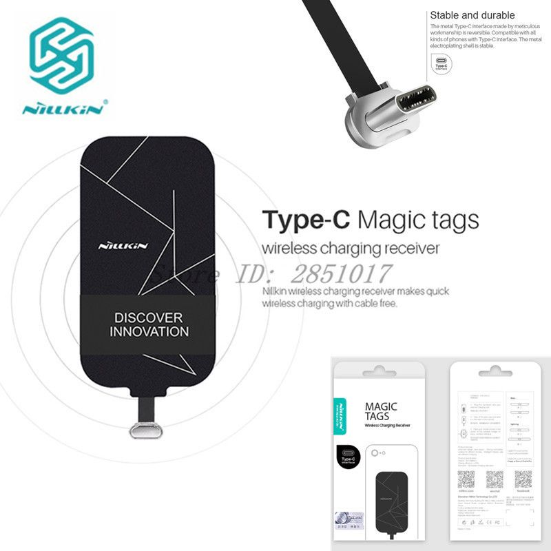 Nillkin Type C Qi Wireless Charger Receiver For Xiaomi Mi Note 3 Mi5 Mi6 MiX 2 Oneplus 3 3T 5 Huawei P10 Honor 9 Mate 9