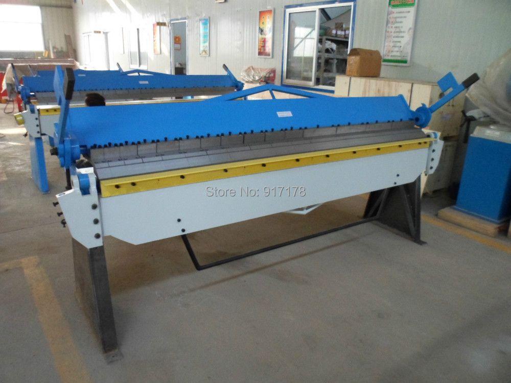 2540A*2.5mm hand brake sheet metal brakes bending machine pan and box folding machinery tools
