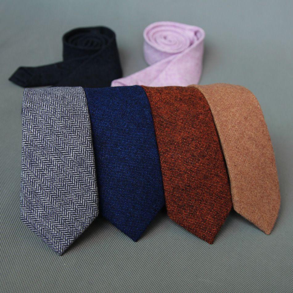 Mantieqingway Brand Fashion Wool Ties Brand Popular Solid Necktie Cravats For Men Suits Tie For Wedding Business Men's Wool Tie