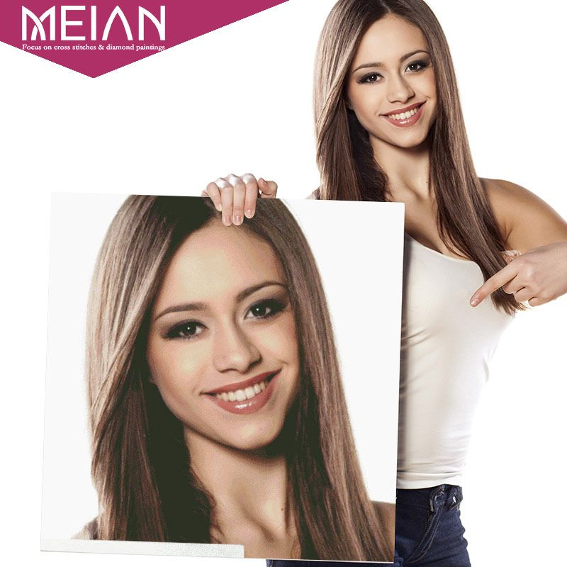 Meian,Photo Custom,Diamond Painting Cross Stitch,DIY,5D,Private Custom,Diamond Embroidery,3D,Diamond Mosaic,Daimond Decoration