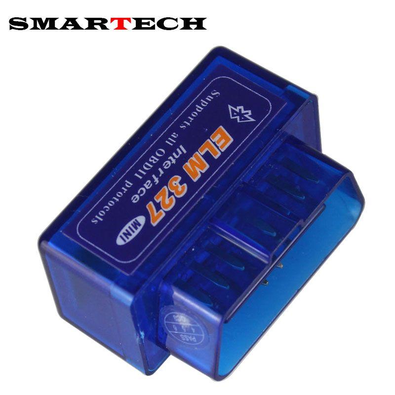 SMARTECH Mini ELM327 Bluetooth OBD2 V2.1 Elm 327 Android Adapter Car Scanner OBD 2 Elm-327 OBDII Auto GPS Receiver Tool Scanner