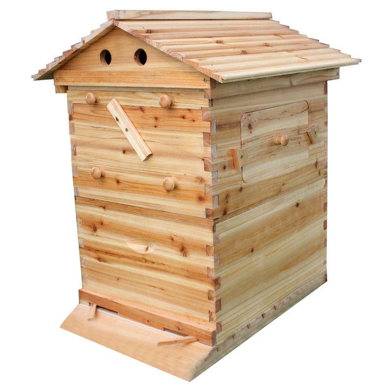 Automatic Wooden Beehive House For 7 Beehive Frames Beekeeping Equipment Honey Self Flowing Bee Hive Supplies Beekeeper Tools