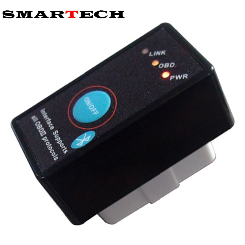 SMARTECH Bluetooth ELM327 V1.5 OBD2 OBD II CAN-BUS Diagnostic Car Scanner Tool Switch Works on Android Symbian Windows