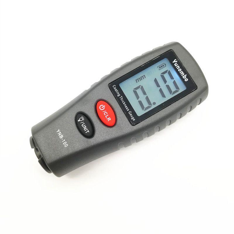 Mini jauge d'épaisseur de revêtement numérique jauge d'épaisseur de peinture de voiture jauge d'épaisseur de testeur d'épaisseur de peinture avec rétro-éclairage YNB-100