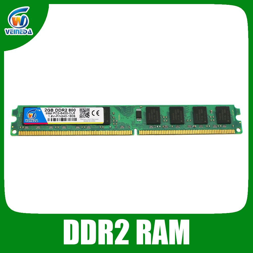 Brand ram ddr2 4gb 2gb 800 667 533 Intel PC2 6400 For Deskpc