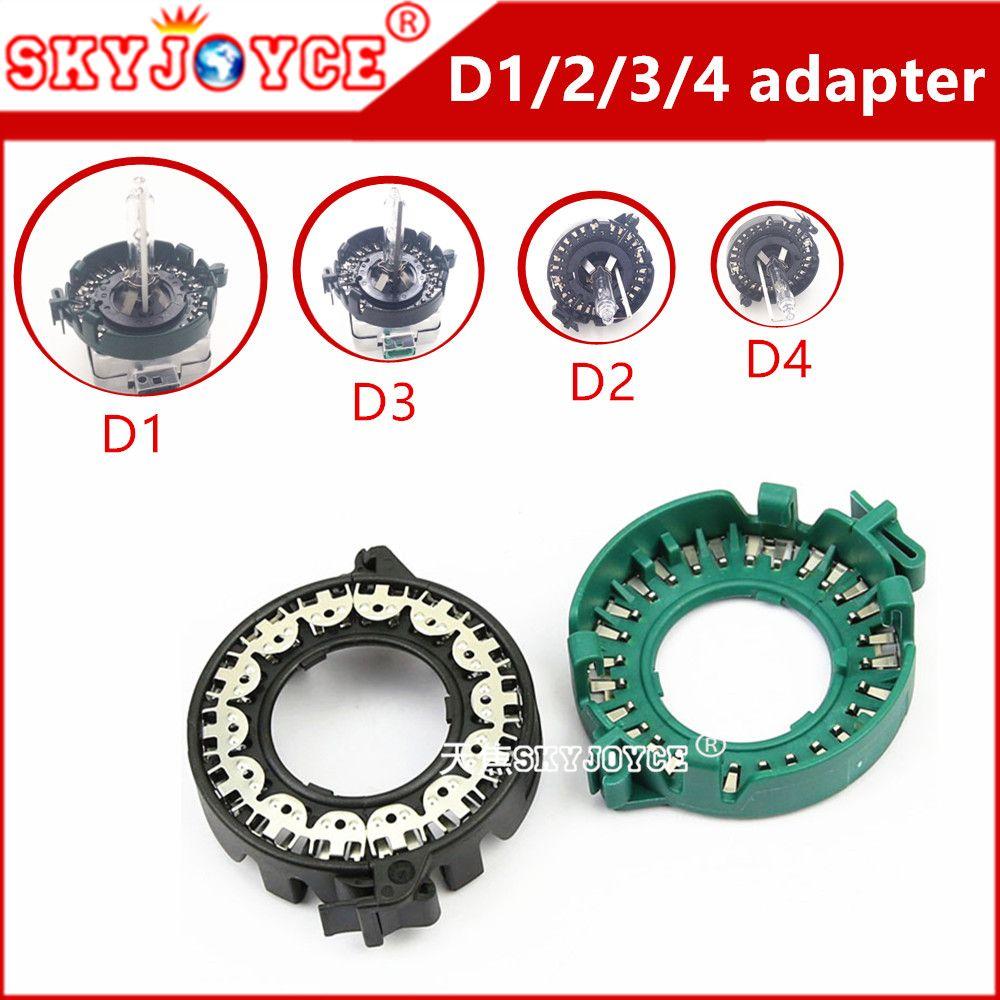SKYJOYCE 2X адаптер D1S D1R D1C металлический зажим базу фиксатор адаптер D1 D3 D2S D4S адаптер Ксеноновые лампочки держатель Гнездо