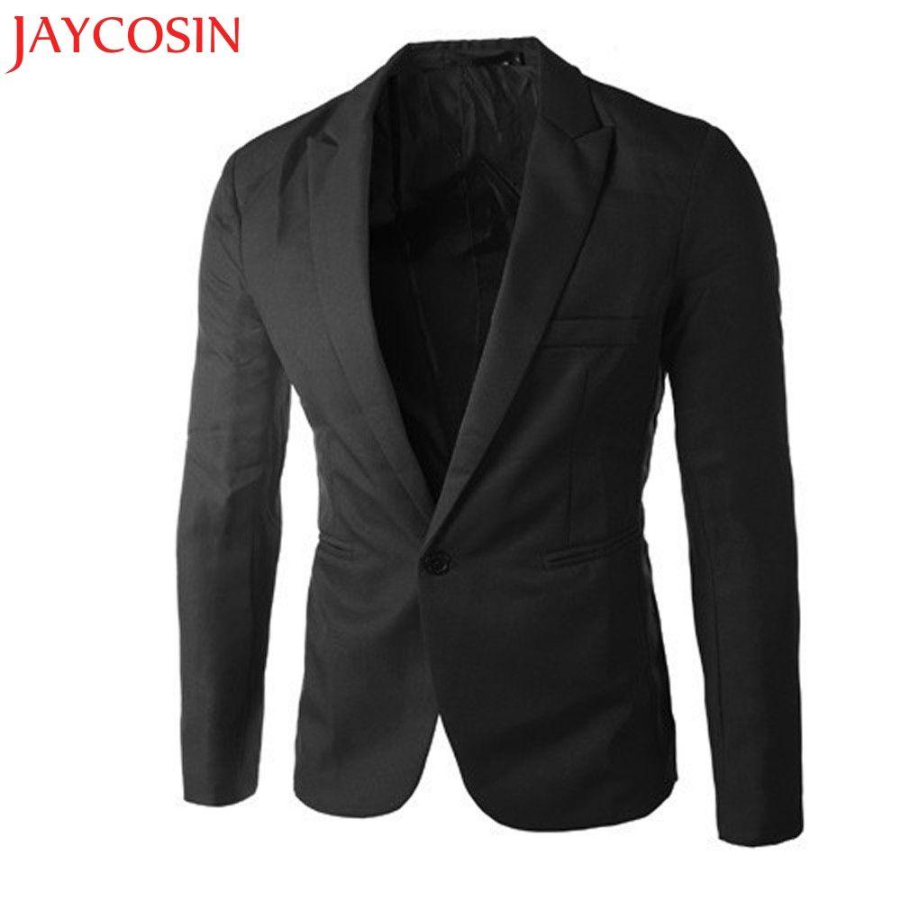 2017 frühling Herbst sommer Charme männer Casual Slim Fit One Button Anzug Blazer Mantel Jacke Tops Männer Mode Y7721