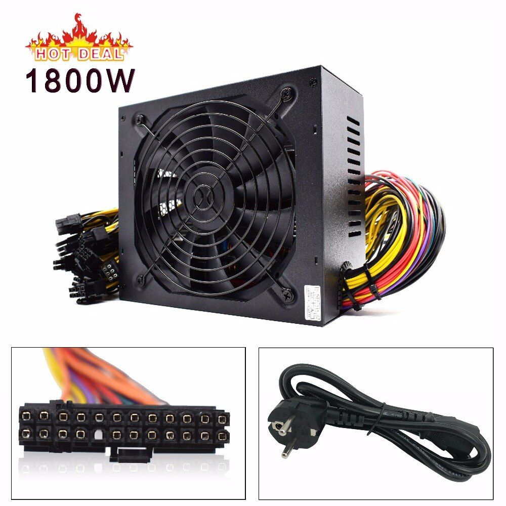 1800w pc power supply ATX Miner Power PSU For ATX Mining Machine Support 6 Pieces Graphics Card GPU Miner Antminer