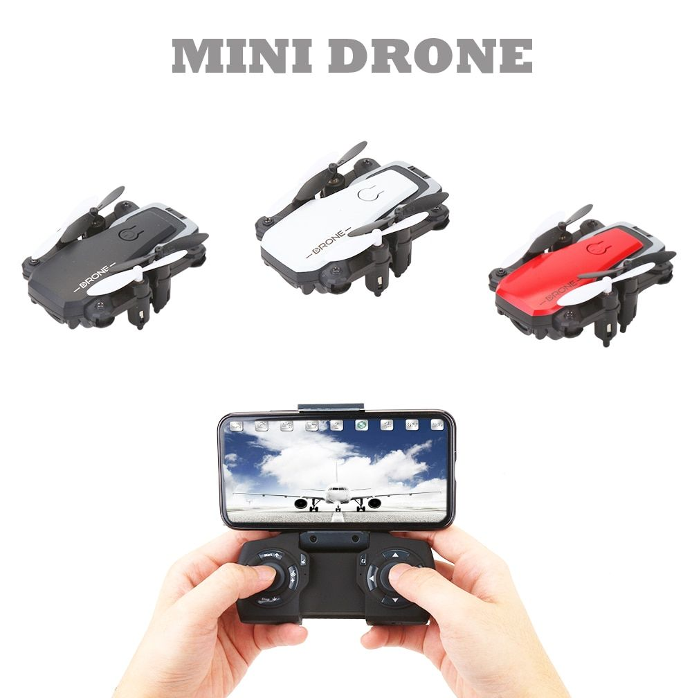 Foldable RC Mini Drone Pocket Drone Micro Drone RC Helicopter With HD Camera Altitude Hold Wifi FPV FSWB Pocket Dron VS S9W S9