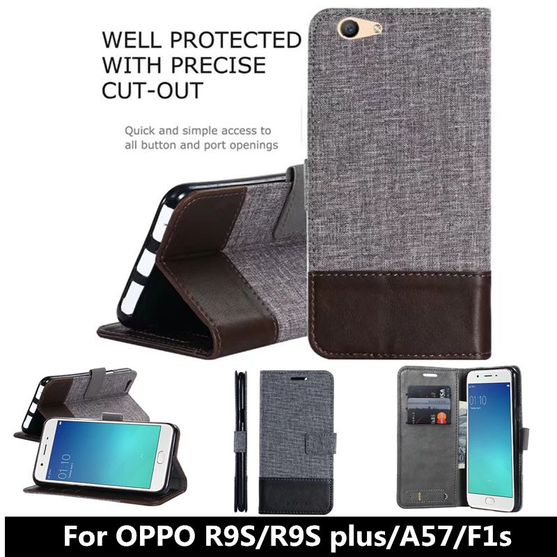 For OPPO R9S plus Luxury Wallet PU Flip Leather Cell Phone Cover Case For oppo A57 F1s Funda Shell Back Cover with Card Holder