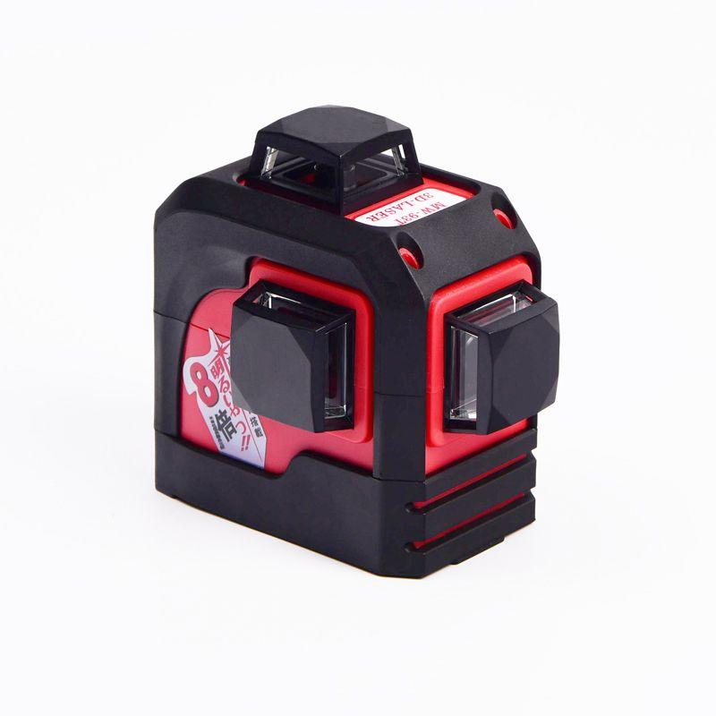 Fukuda,MW-93T 3D 12Lines laser level ,Red Laser level,Self-Leveling 360 Horizontal,Vertical Cross <font><b>Super</b></font> Powerful