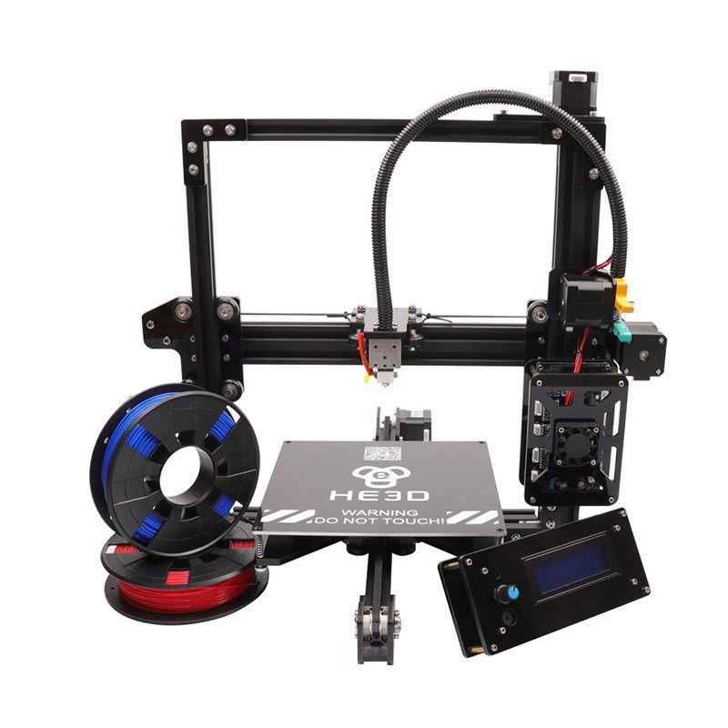 2018 die neueste 200*200*200mm autoleveling Aluminium Extrusion HE3D EI3 3D drucker kit mit 2 rollen filament + 8 gb sd-karte als geschenk