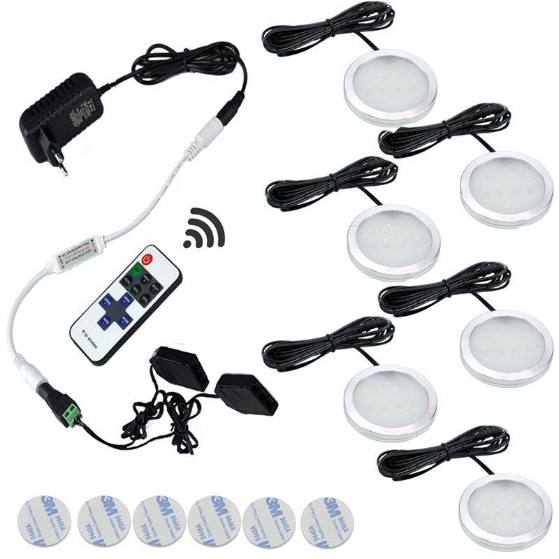 AIBOO 12 v Sous Le Cabinet A MENÉ Des Lumières de Rondelle Sans Fil Downlight Projecteurs LED Éclairage de Cuisine