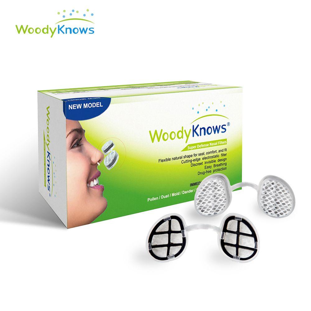 Anti PM2.5 WoodyKnows Superbe Défense Nasale Filtre Pas D'air Pollution masques pour le nez, pas de Pollen Allergies Poussière Soulagement des Allergies (2nd Gen)