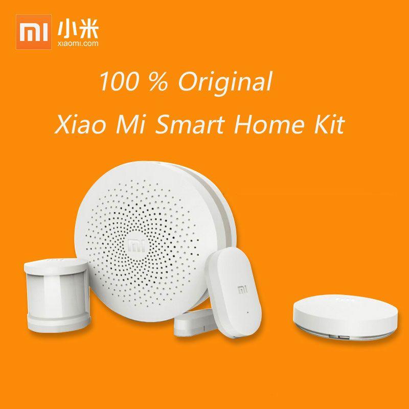 2017 Xiaomi Mi Smart Home Kit Gateway2 Porte Fenêtre Capteur Humain corps Capteur Sans Fil Commutateur Appareils Intelligents Ensembles Pour Mi Maison Intelligente