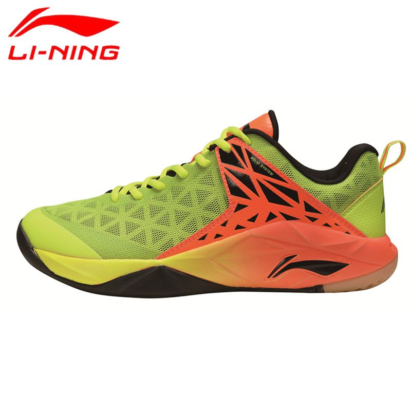 Li-Ning 2017 Newest Men's Badminton Shoes Breathable Lining Athletic Sneaker Anti-Slippery Sports Shoe Li Ning Genuine AYTM071