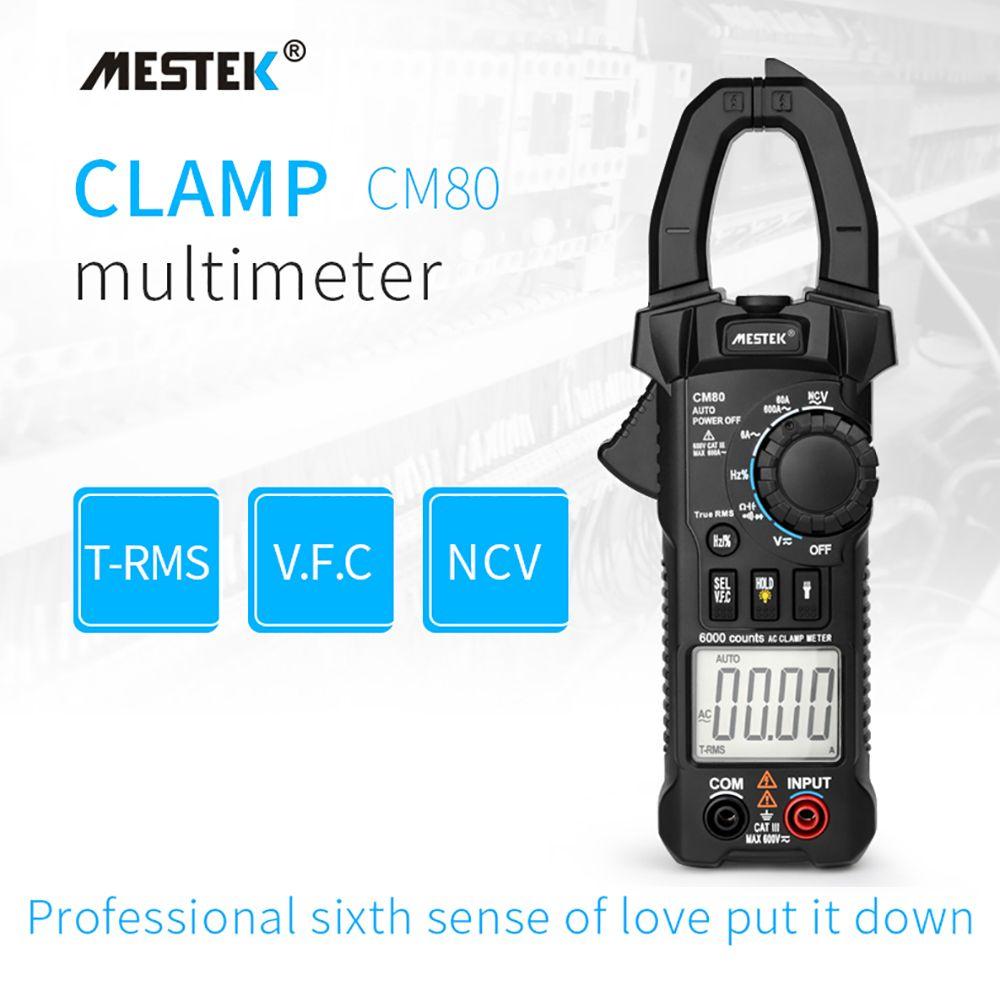 MESTEK Digital Clamp Meter Multimeter Current Clamp Pincers AC/DC Voltage Resistance Tester Measuring Tools Diagnostic-Tool CM80