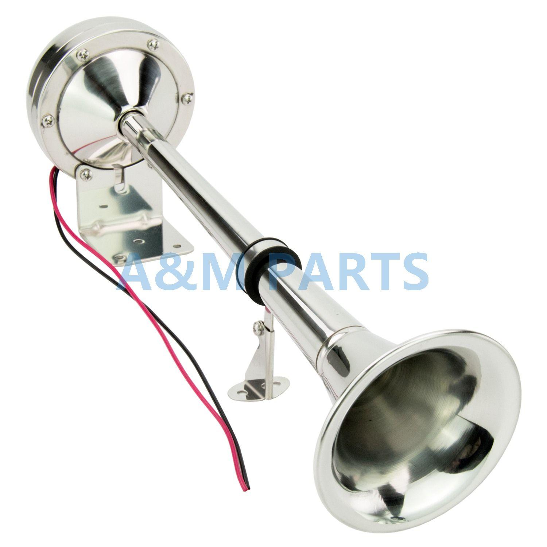 Marine Trompete Horn Edelstahl Low Ton Einzigen Horn 12 V 16-1/8 zoll