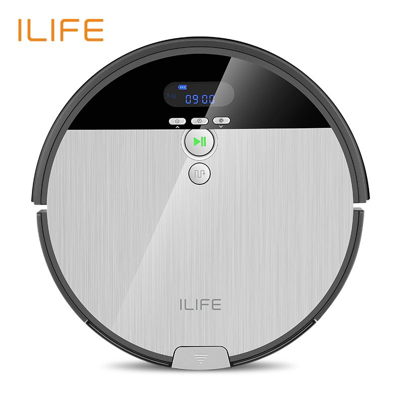 ILIFE V8s Robot Vacuum Cleaner Sweep&Wet Mop Navigation Planned Cleaning 0.75L Dustbin Water Tank Adjustable Schedule Household