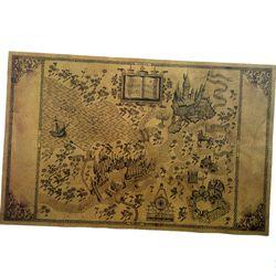 Carte Du Monde Magique De Harry Potter Autour de La grand Papier Affiche Film 51*32.5 cm Classique Affiche Vintage Rétro Papier artisanat