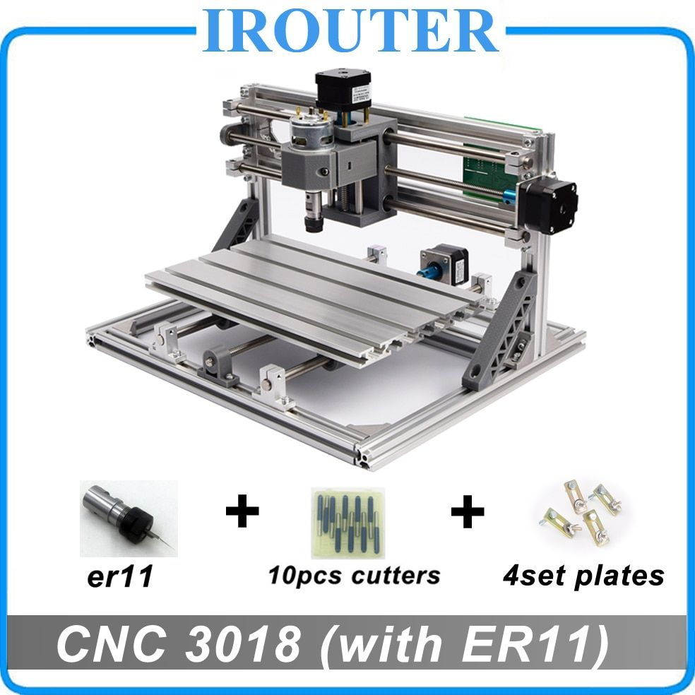 CNC 3018 withER11, bricolage mini CNC machine à graver, laser gravure, Pcb PVC fraiseuse, routeur de bois, CNC 3018, meilleur Avancée jouets