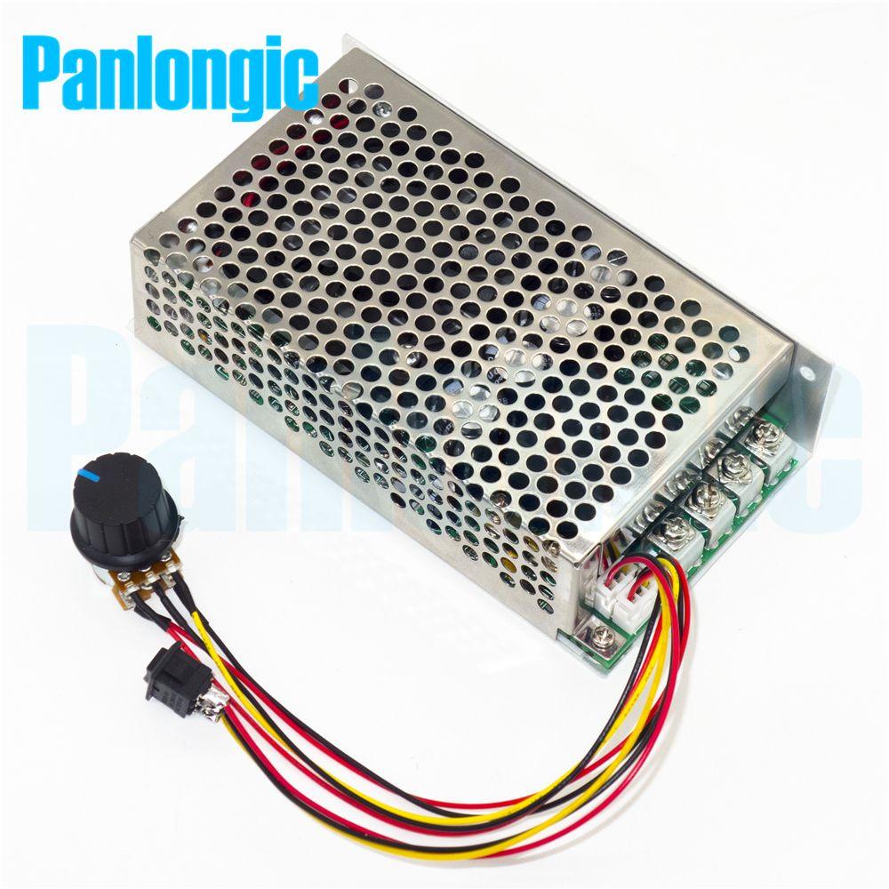 10-50V 100A 5000W H Bridge Reversible DC Motor Speed Controller PWM Control 12V 24V 36V 48V Forward-Stop-Reversal Soft Start