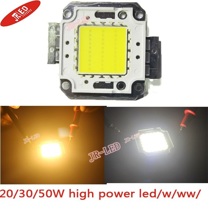 Livraison gratuite! haute qualité 2 PCS/lot 20 W 30 W 50 W 100 W 45MIL blanc/blanc chaud puce LED bricolage pour lampadaire/projecteur