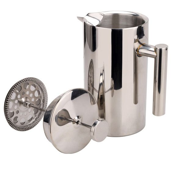 1L Double Wall Stainless Steel French Coffee Press 8.2inch SterlingPro With a Handle