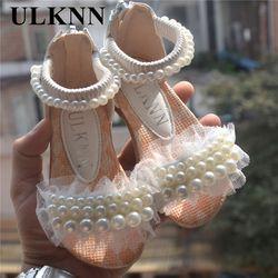 Púrpura rosado blanco niños zapatos niñas princesa zapatos moda niñas sandalias niños diseñador zapatos de un solo verano niñas sandalias