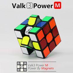 Valk 3 Valk3 Power M Ukuran Mini Cube 3X3 Speed Magnetic Cube Mofangge Qiyi Kompetisi Kubus Mainan WCA puzzle Kubus dengan Magnet