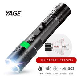LED Flashlight xml Q5 High Power Rechargeable Led Flashlight usb Lantern Mini Pocket Flash light Powerful 18650 Tactic Lintern